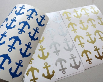 1.5''Anchor Stickers,Nautical Anchor Sticker,Party decoration,Baby shower decals.