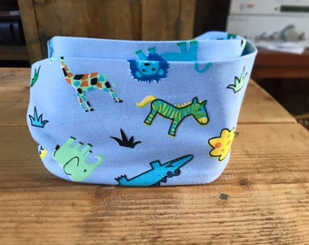 Animal print jersey toddler snood / infinity scarf