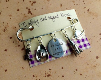 To infinity and Beyond - Charm Brooch