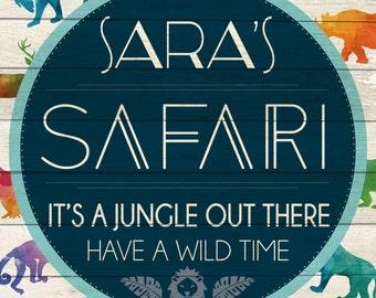Custom Safari Sign Digital Download