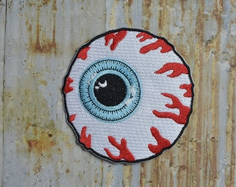 Bloodshot Eyeball Skate NYC  Iron On Sew On Patch Transfer