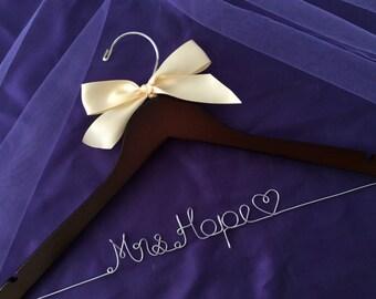 Grand Opening !!l-Personalized Bridal Hanger Customized Hanger,Wedding Gift,Wedding Hanger, Bridal shower Gift, Bridemaids hanger