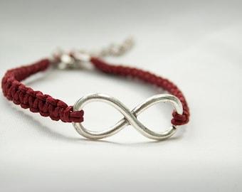 Infinity Bracelet, Macrame  Hemp Bracelet, Infinity Macrame