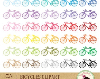 Bicycles Clipart - Instant Download