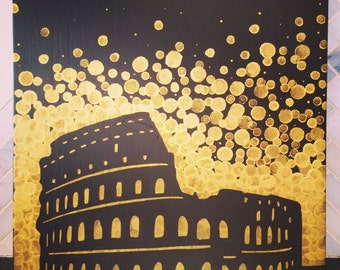 Colosseum Painting//Rome Painting//Rome artwork
