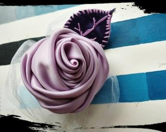Lavender Rose Hair Clip