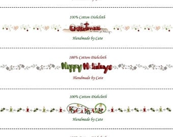 Christmas Dishcloth/Washcloth Labels - PDF File ONLY
