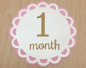 Baby Monthly Sign, Baby Photo Prop