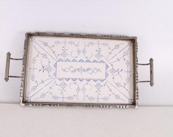 Vintage, Old, German Made Porcelain Serving Tray.