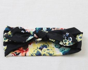 Black Flower Headband