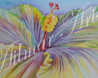 An Exotic Flower, Flower picture, colurfull, acrylic