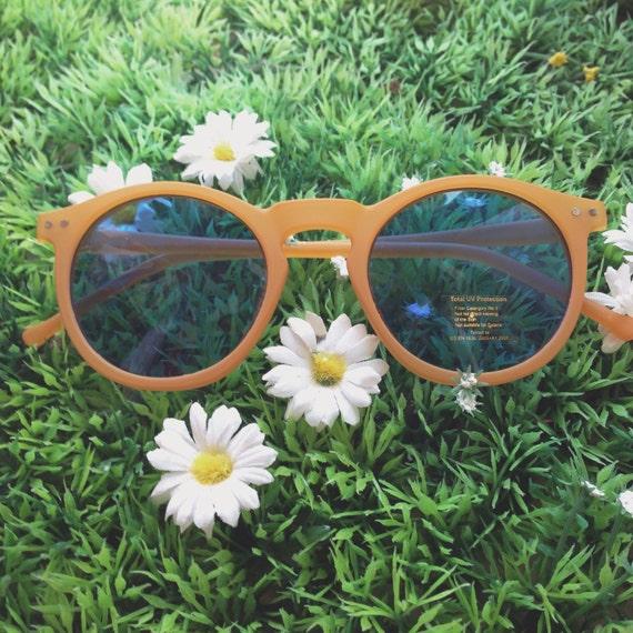 Retro orange sunglasses EG3