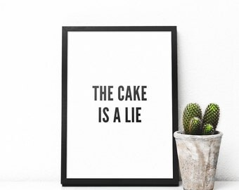 The cake is a lie - Poster