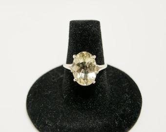 Spring sale! Yellow Labradorite Ring