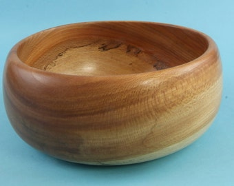 Shapely green turned spalted sycamore bowl