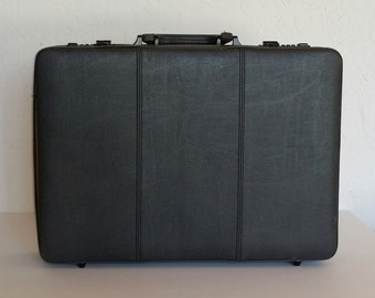 CLEARANCE 50% OFF Vintage Heritage Gray Leather Briefcase Attaché Case