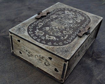 Box for gift, Gift boxes, Packing box, Personalized Box, Jewelry Box Wooden, The Bird of Happiness
