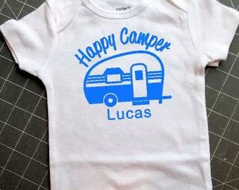Happy Camper personalized onesie
