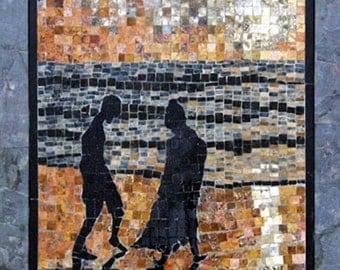 Beachcombers marble mosaic art