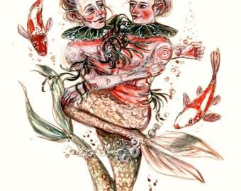 Pond Lovers Art Print