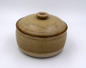 Handmade lidded bowl, lidded jar