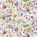 "Cartoon Fabric - Shopkins Fabric - Moose Shopkins Party 100% cotton fabric 44"" wide, G177"