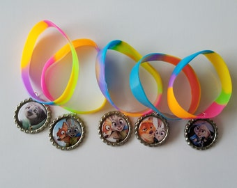 10 Pieces - ZOOTOPIA  Band Bracelets Party Favors