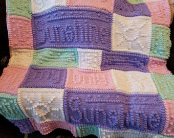 You are my sunshine baby blanket made to order