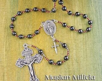 Marian Militia Hematite Pardon Rosary