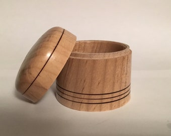 Handturned Box-In Maple