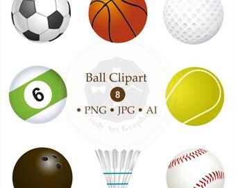 Ball Clipart,games clipart,sports clipart,digital download