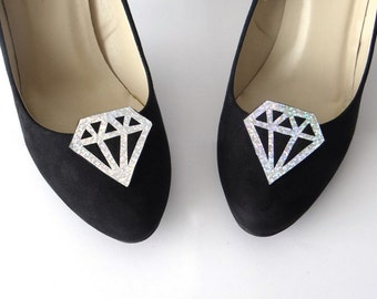 Clips shoes silver diamond