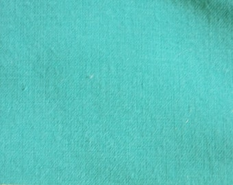 """56"""" Wide Teal Cotton Broadcloth by the yard, 3 available"""