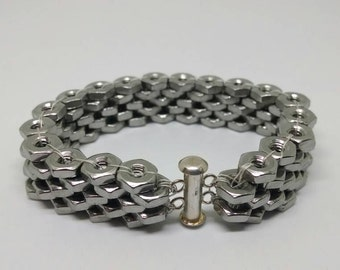 Stainless Steel Hex nut bracelet