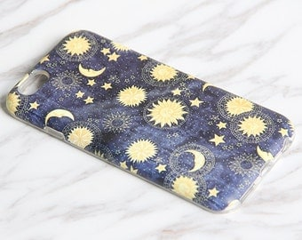 Moon Myth Sky iPhone 6S Case iPhone 6 Case iPhone 6 Plus Case iPhone 6s Plus Case iPhone 5S/5 Case SE iPhone 5C Case Yellow Black KB932