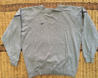 Vintage 90's Nike Just Do it Sport Classic Design Skate Sweat Shirt Sweater Varsity Jacket Size L #A442
