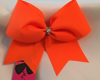 SALE Neon orange bow