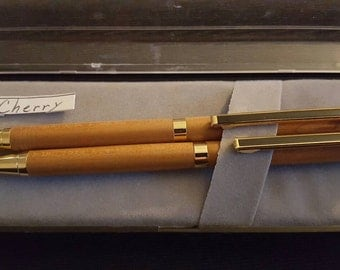 Cherry wood Pen and Pencil Set