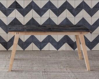 Reclaimed Belgian Black Oak Dining Table