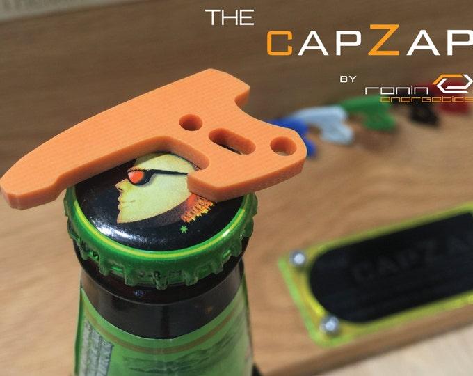 Orange G10 Personalized Keyring Pistol Bottle Opener - EDC Gun Keychain Travel Tool, Star Lord, Gift for Him, Groom Gift, CapZap