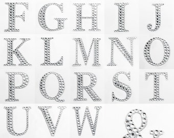Large 5cm Self Adhesive Diamante Rhinestone Glitter Alphabet Letter x 1