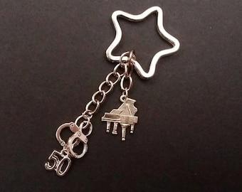 50/Fifty shades of Grey keychain/keyring/key holder handmade accessories-50 shades Darker/Freed-Christian Grey-Anastasia Steel
