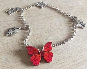 Red Butterfly Bracelet