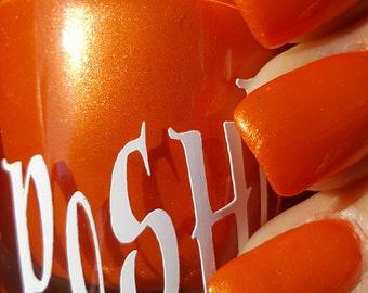 "Unique ""Dashing"" Pearlescent Orange Nail Polish Full Size 15ml Bottle"