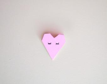 Brooch heart handmade