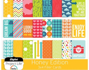 "Project Life ""Honey"" Edition - 3x4 Cards"