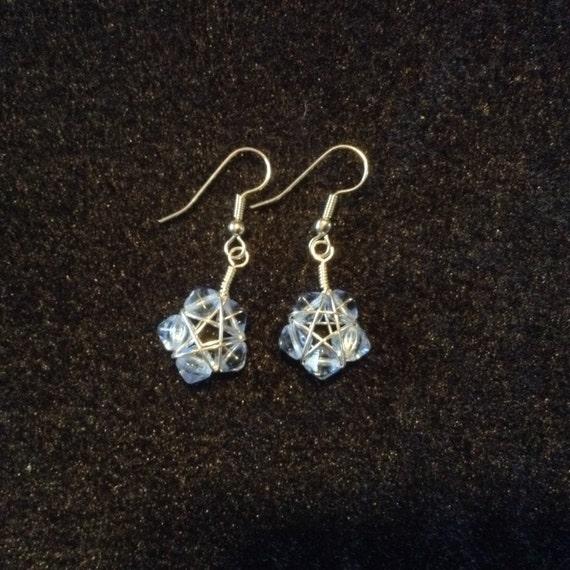 Baby Blue Star Earrings