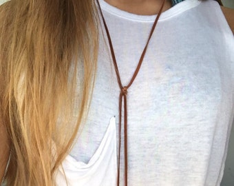 The Western Brown Leather Necklace