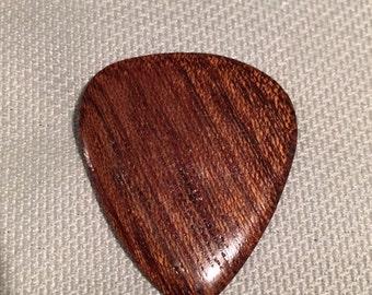 Wood Guitar Pick, Mahogany