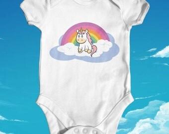 Unicorn baby bodysuit | baby shower gift | cute baby clothes | newborn baby clothes | funny baby bodysuit | fantasy baby bodysuit